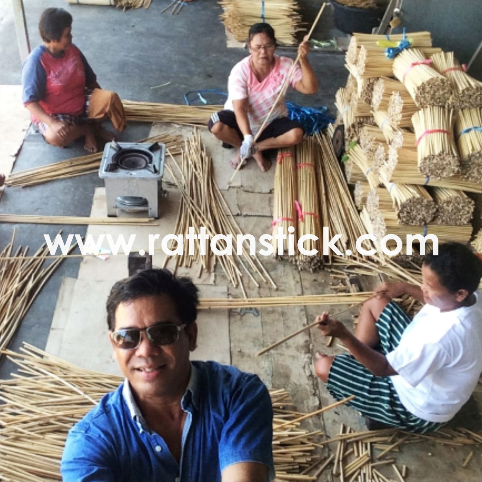 The Process of Making Rattan Stick